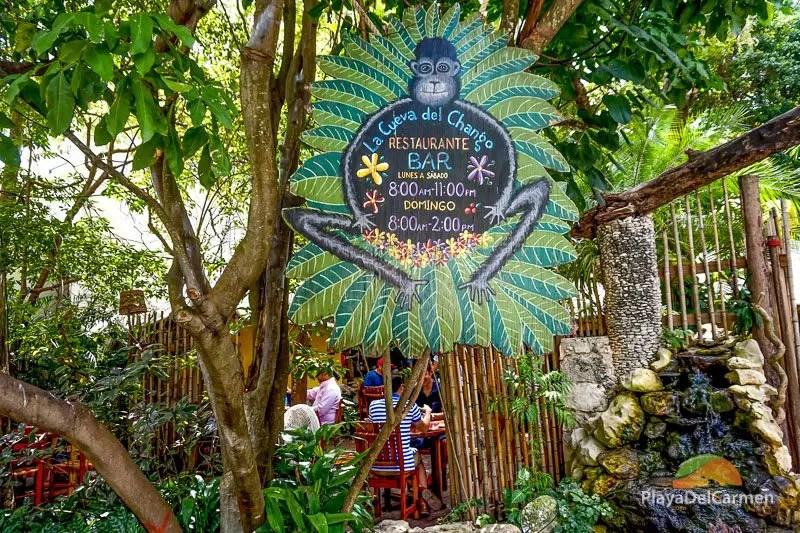 Cueva del Chango restaurant Playa del Carmen