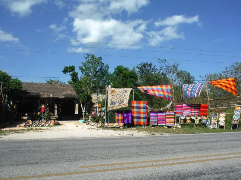 Souvenir shops at punta laguna