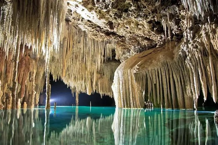 Rio Secreto underground river in the Riviera Maya