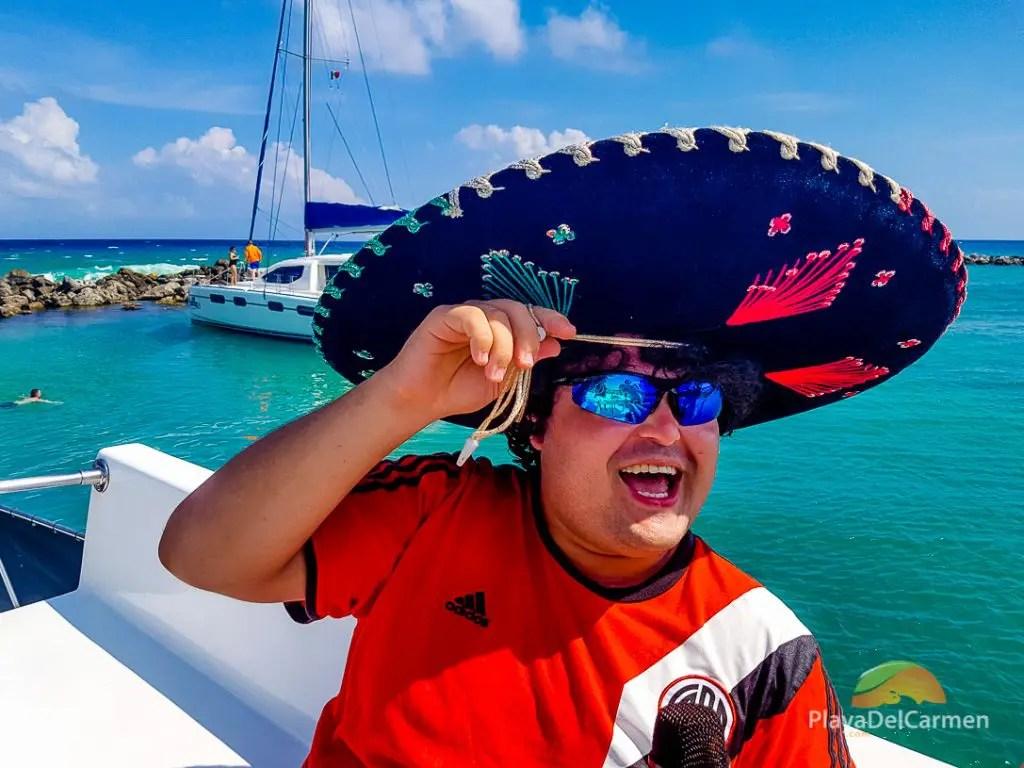 mariachi aboard a playa del carmen yacht charter
