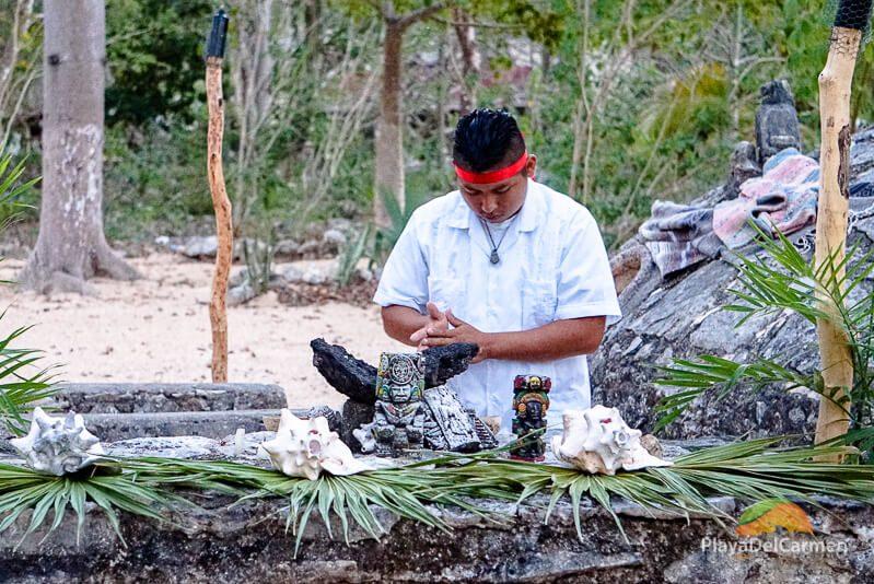 Temzacal shaman ceremony