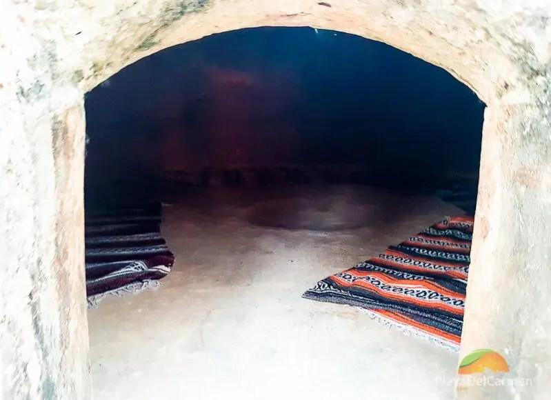 Inside of a Temazcal Playa del Carmen