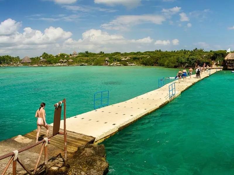 Xel-Ha floating bridge