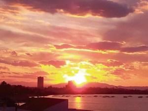 Fiery sunset in Playa Honda