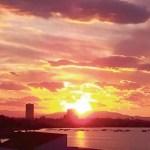 Puesta de sol de fuego en Playa Honda