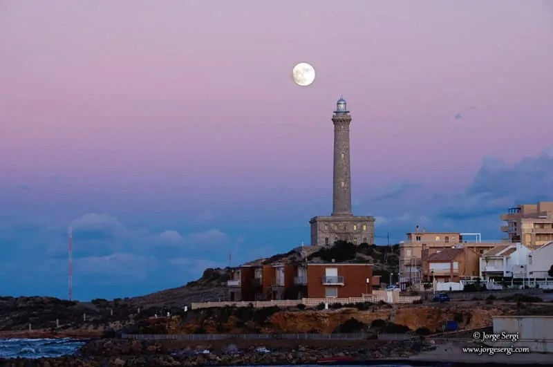 Sunset at the Cabo de Palos lighthouse