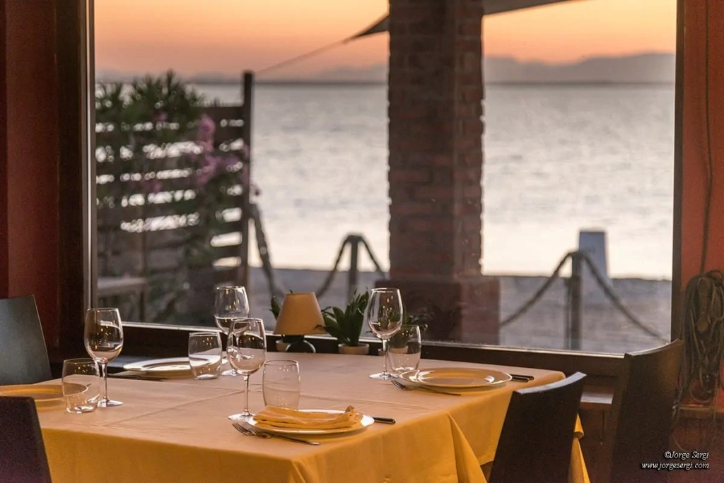 Views from the restaurant El Parador del Mar Menor