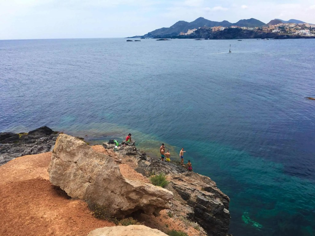 Rock jumping from El Cañonero in Cabo de Palos