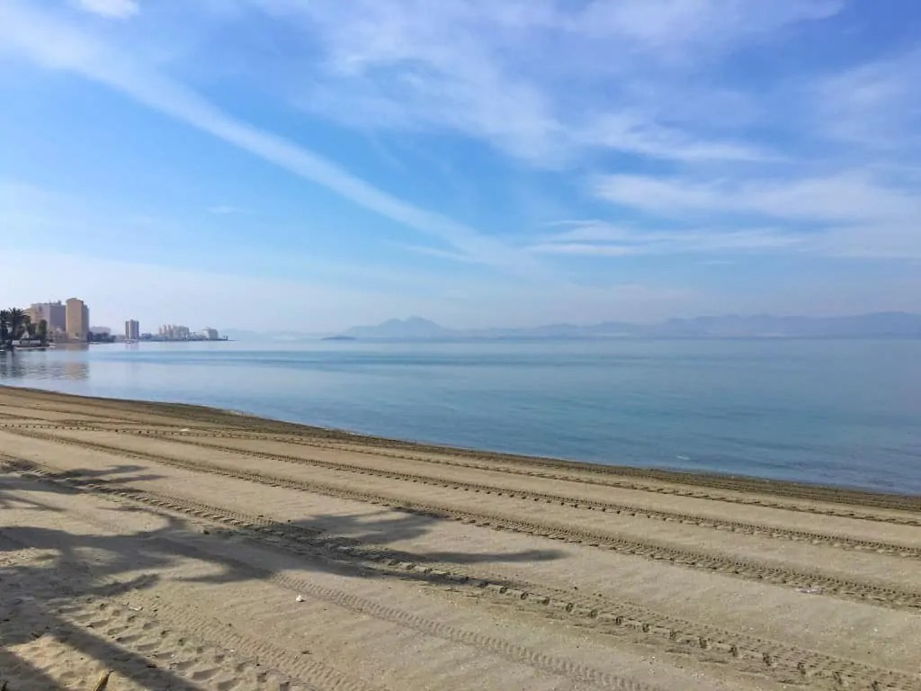 Mar Menor beach in Playa Honda