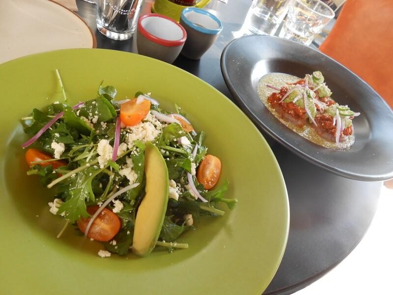 Salad at PalReal Restaurant in Guadalajara