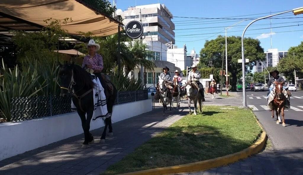 Guadalajara Pilgrims on horseback