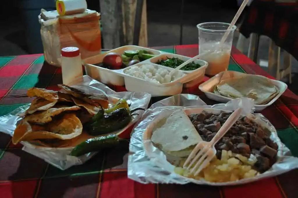 Tacos de lengua, Tacos las Americas, Guadalajara, Jalisco, Mexico