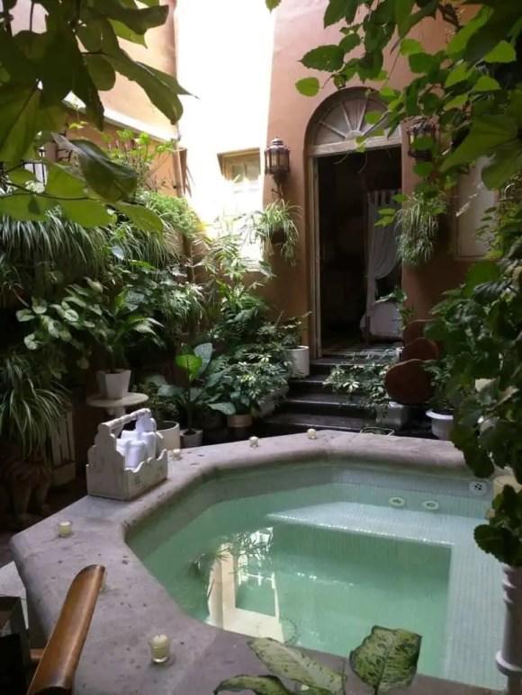 Casa Pedro Loza Mexico wedding venue honeymoon suite with Jacuzzi