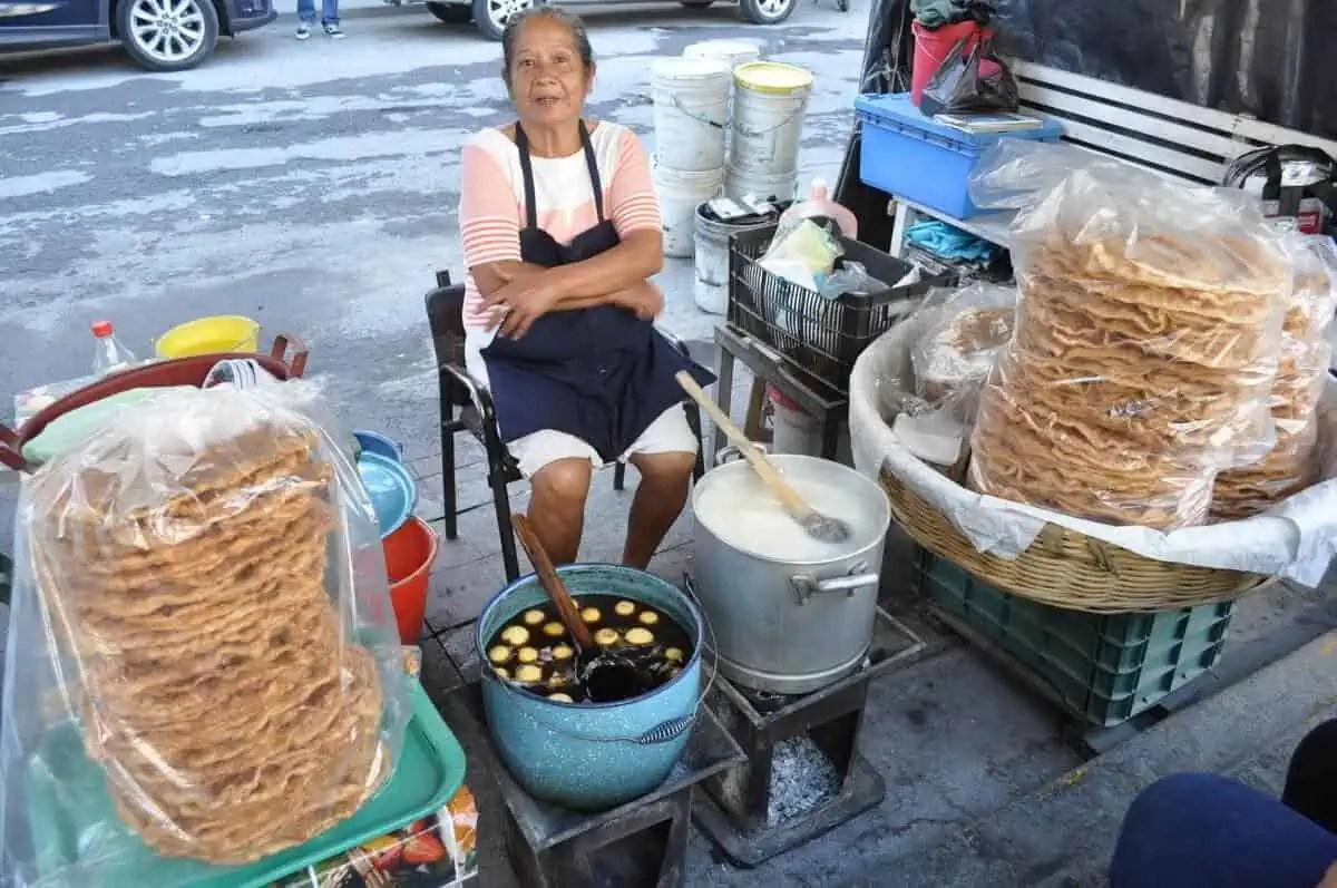 Buñuelo Vendor in Downtown Guadalajara