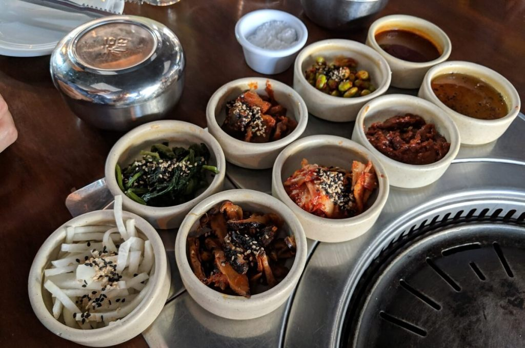Banchan Spread at SSAM Guadalajara