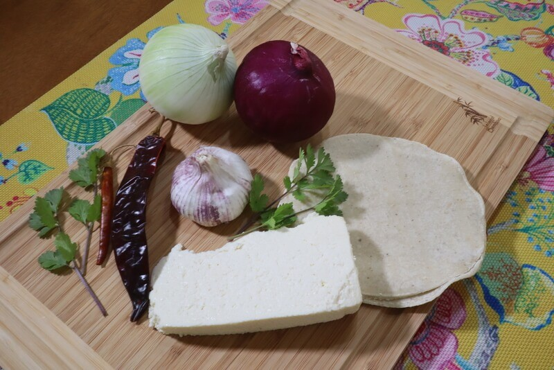 Ingredients for making gluten free enchiladas