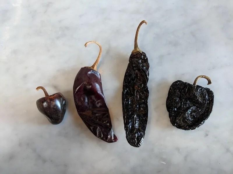 Mexican chiles for gluten free enchiladas