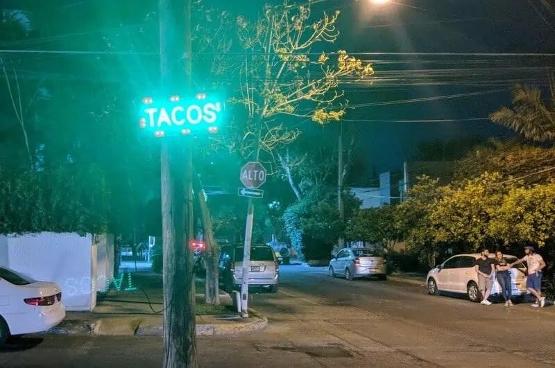 Tacos at el Palomar de Santa Rita