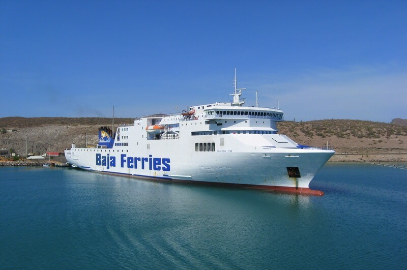 Baja Ferries cargo ship in port at Pichilingue, Baja Califoria Sur