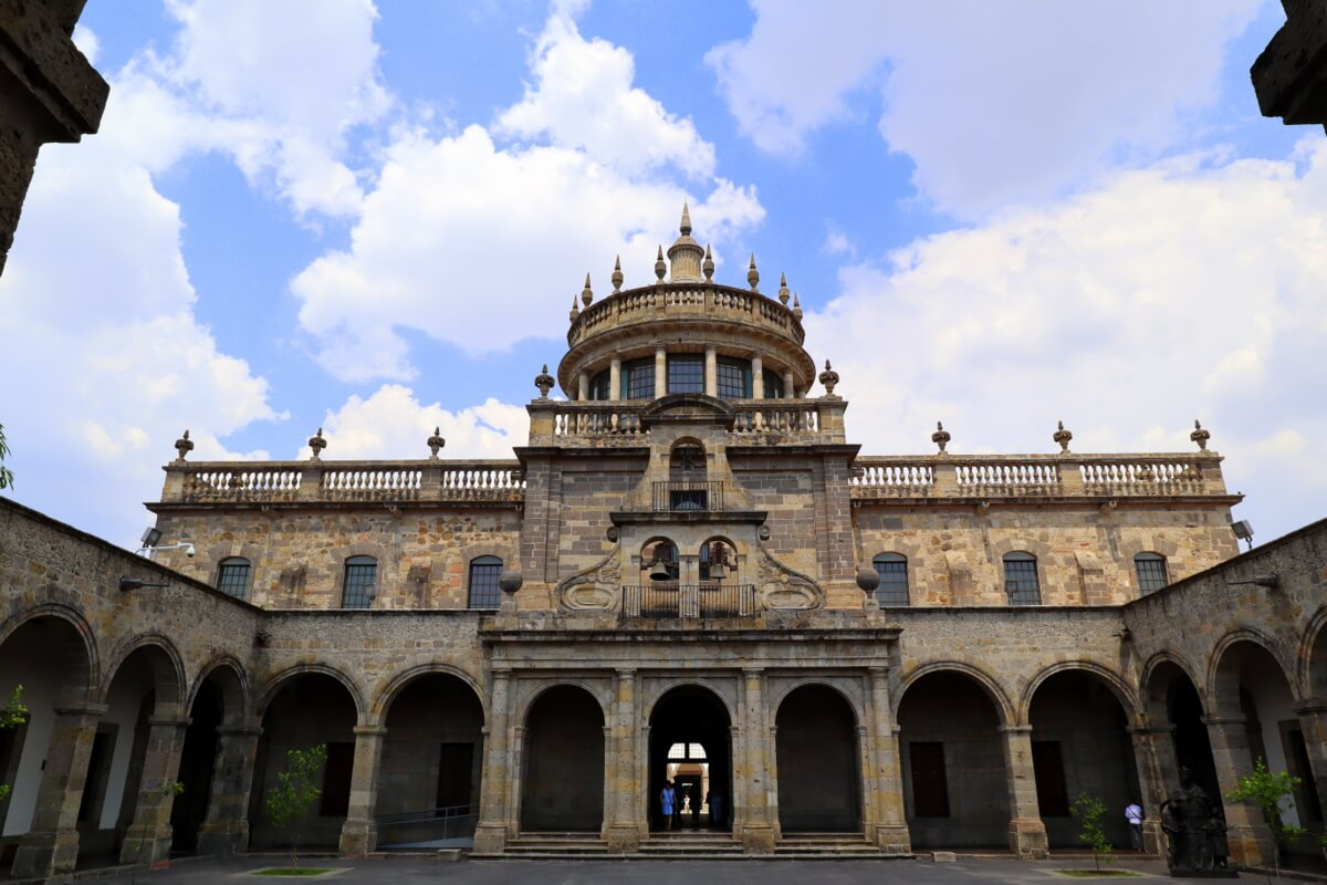 Hospicio Cabañas is also known as the Cabañas Cultural Institute and houses a vast collection of Jose Clemente Orozco murals