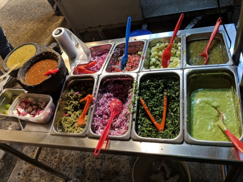 types of tacos and types of salsas