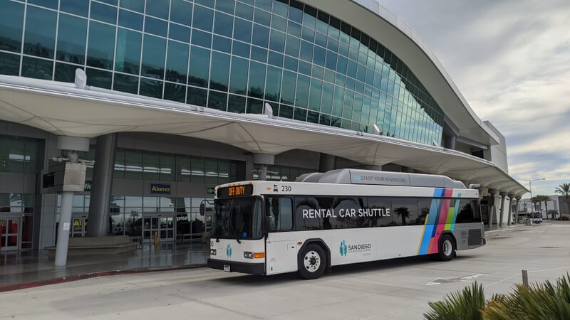 Cross Border Xpress shuttle to the San Diego airport car rental center