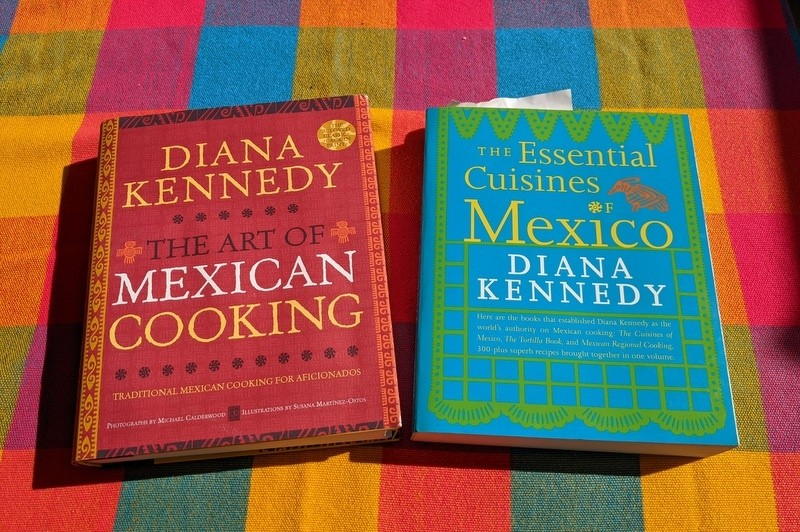 Diana Kennedy cookbooks about Mexico and Mexican cuisine
