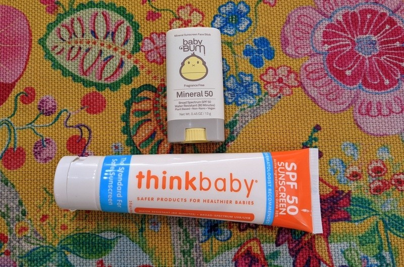 Thinksport and Sun Bum mineral sunscreen for kids