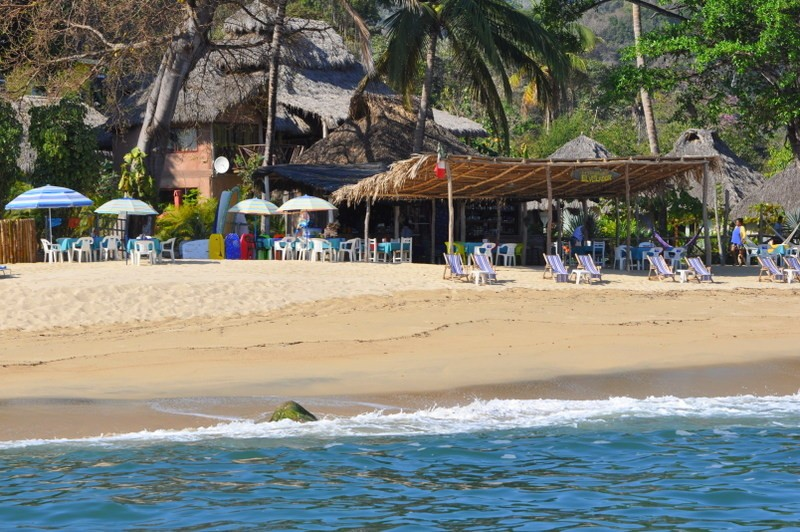 Quimixto is my favorite Puerto Vallarta beach because there is surfing and good food.
