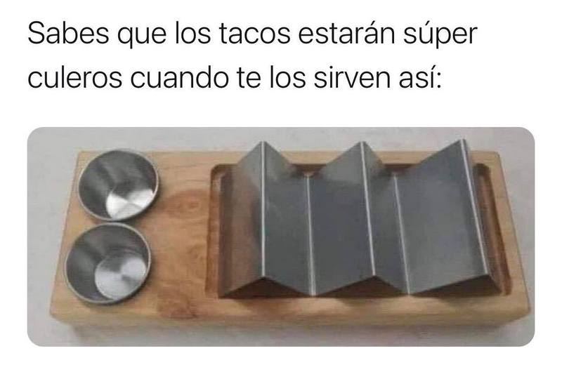 A sign of bad tacos