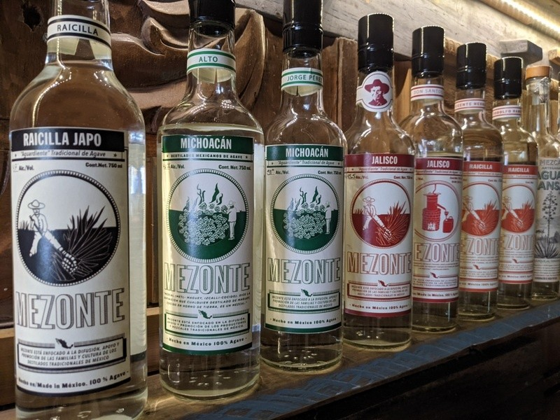 Distilled agave spirits from Mexico