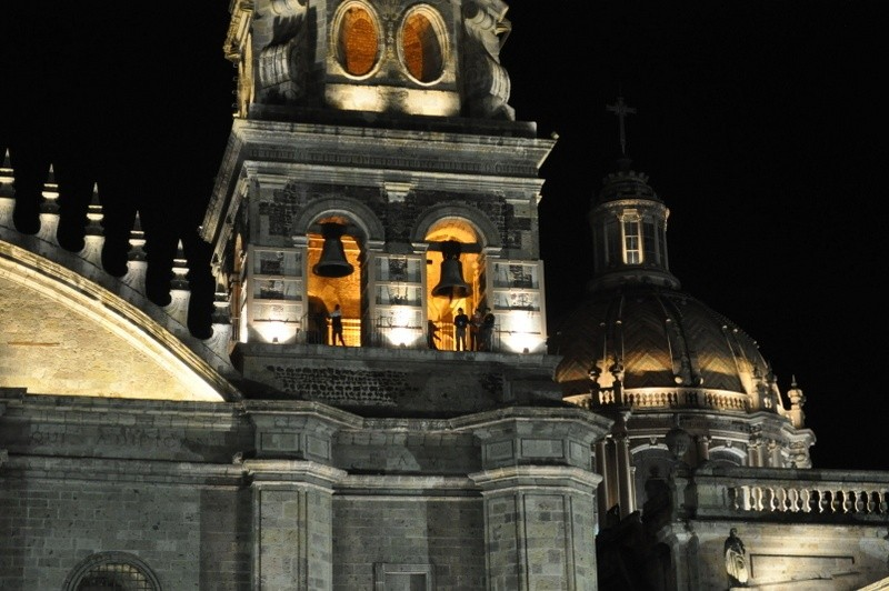 Guadalajara Metropolitan belltower on the Romeria de la Virgen de Zapopan