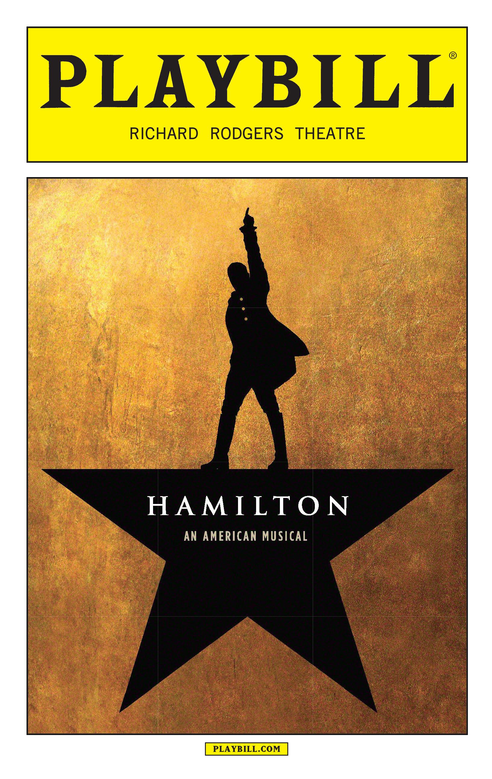 Hamilton the Musical July Playbill 2016  Hamilton the