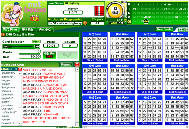 Bingo chat room
