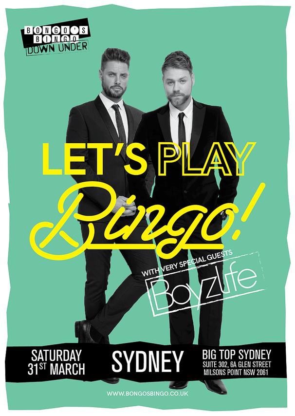 Boyzlife Bingo in Sydney