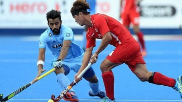 India vs Korea Hockey Match Asian Champions Trophy