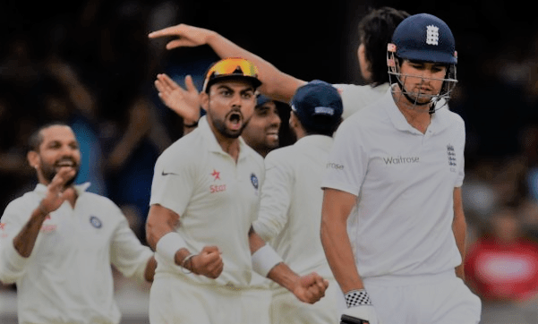 India and england 3rd test match live score