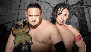 Shinsuke Nakamura and Samoa Joe come together for a contract signing for their match at NXT Takeover!