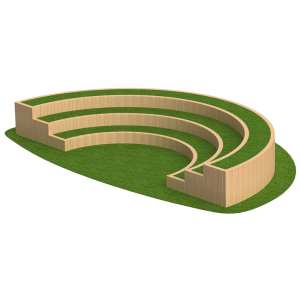 amphitheatre, Playcubed, Valley Provincial, Primary school playground, recreation area, playground installation, playground construction, bespoke playground design, playground landscaping, outdoor learning