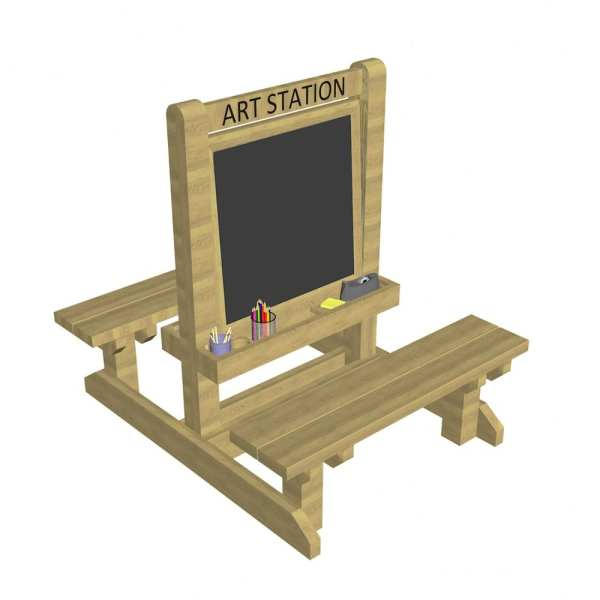 art easel, Playcubed, Valley Provincial, Primary school playground, playground installation, playground construction, bespoke playground design, playground equipment, sensory play area