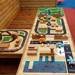 Mini world table, Playcubed, Valley Provincial, Primary school playground, playground installation, playground construction, bespoke playground design, playground equipment, sensory play area