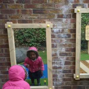 mirror panels, Playcubed, Valley Provincial, Primary school playground, playground installation, playground construction, bespoke playground design, playground equipment, sensory play area, inclusive play