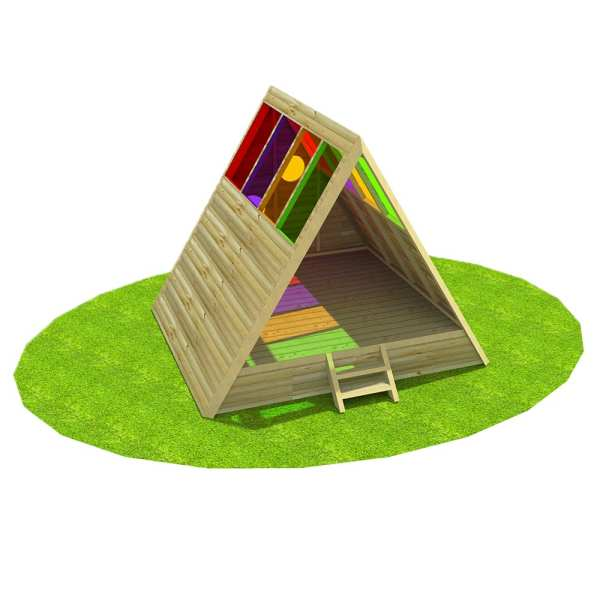 raised sensory shelter, Playcubed, Valley Provincial, Primary school playground, playground installation, playground construction, bespoke playground design, playground equipment, playground shelter, sensory play