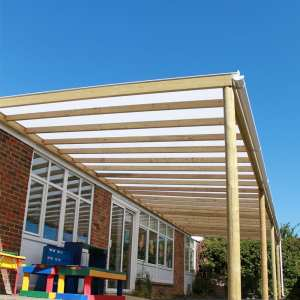 playground canopy, Timber white canopy, Playcubed, Valley Provincial, Primary school playground, playground installation, playground construction, playground shelter