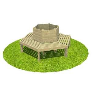 Tree seat, Playcubed, Valley Provincial, Primary school playground, playground installation, playground construction, bespoke playground design, playground equipment, playground seating area