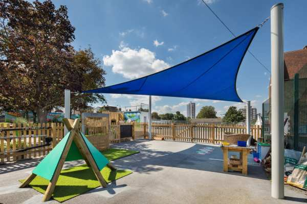 Wig Wam, playground canopy, playground shelter, Playcubed, Valley Provincial, Primary school playground, playground installation, playground construction, bespoke playground design, themed play area, playground equipment