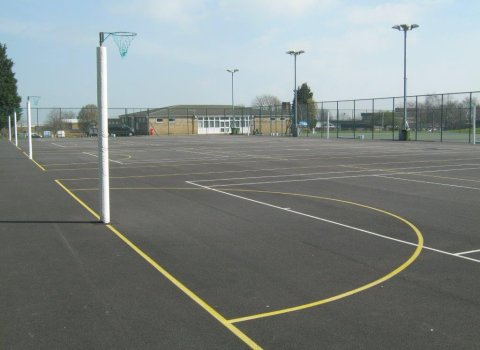 playcubed, Valley Provincial, Primary school MUGA, south east MUGA installation, south east MUGA design, playcubed project, playground synthetic surfacing, playground sports markings, playground landscaping, ballcourts south east