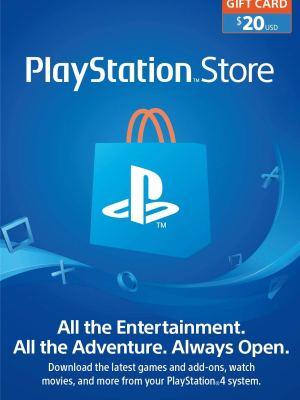 PlayStation Store Gift Card de $20 – Estados Unidos – Código Digital