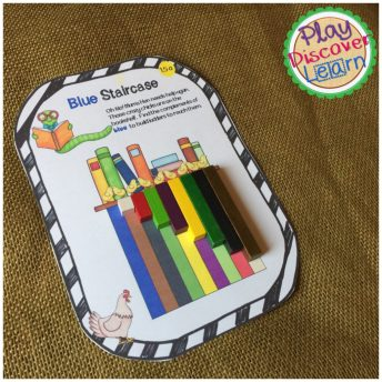Hands On Math activity for learning math facts and structures.  A fun picture book activity too.