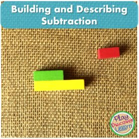 Building and describing Subtraction using Cuisenaire rods provides context.